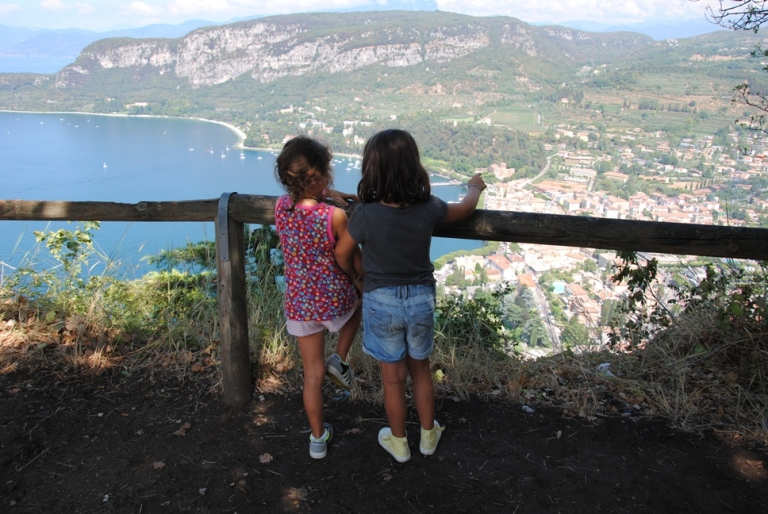 rocca garda with kids
