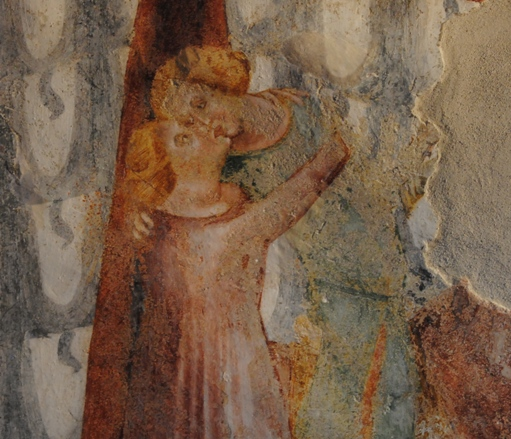 un particolare degli affreschi