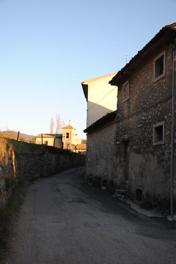 Arrivo del sentiero a Vilmezzano