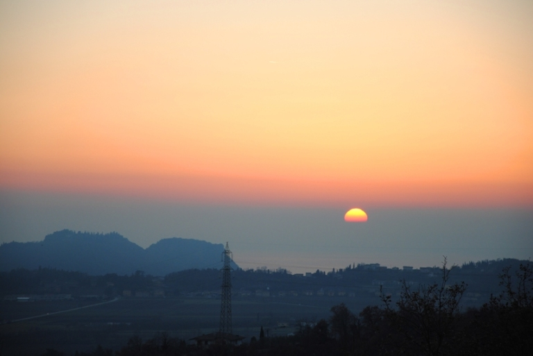 tramonto a Rubiana