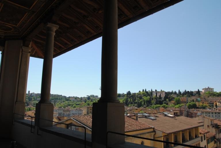 Loggia panoramica all'interno di Palazzo Vecchio