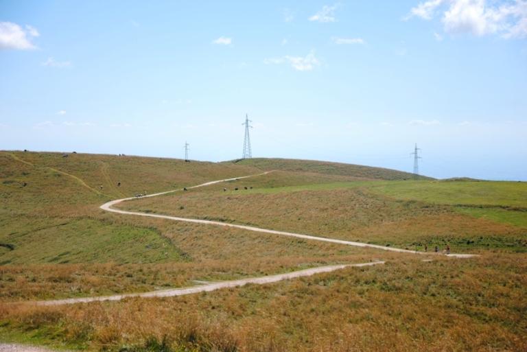 la strada che da Malga Lessinia porta al rifugio Castelberto